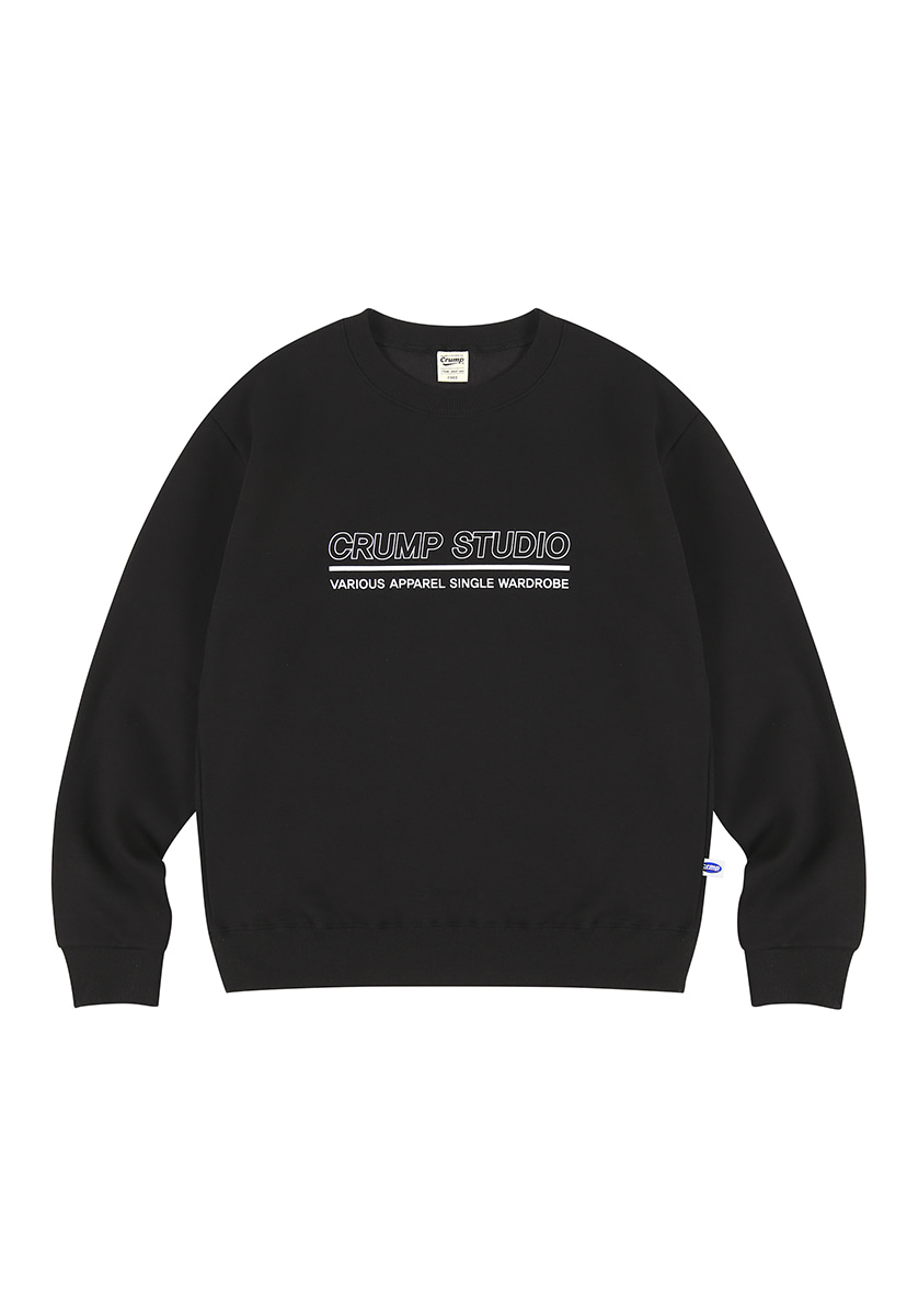 [크럼프][기모] Crump outline logo crewneck (CT0236g)